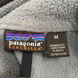 Patagonia Sweaters - Patagonia Synchilla Mens Blue Fleece Zip Pullover
